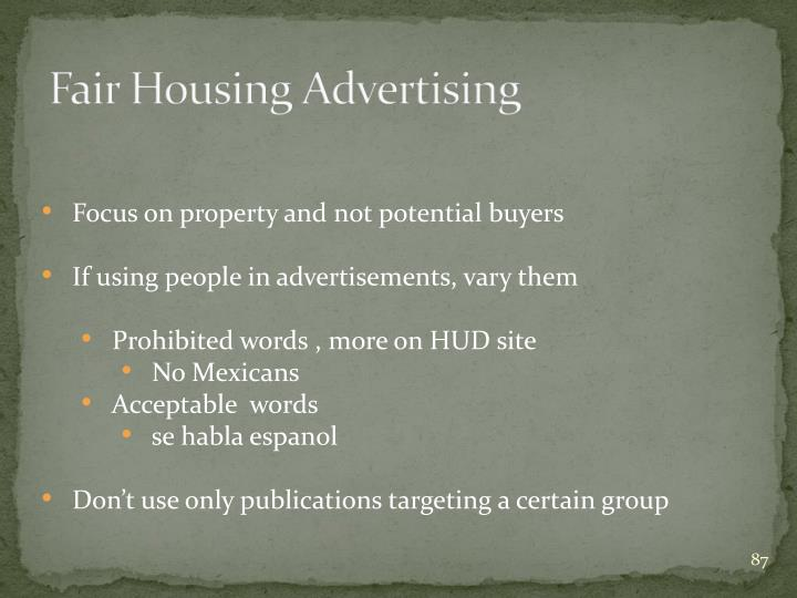 Fair Housing Advertising