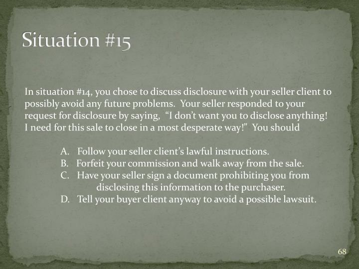 Situation #15