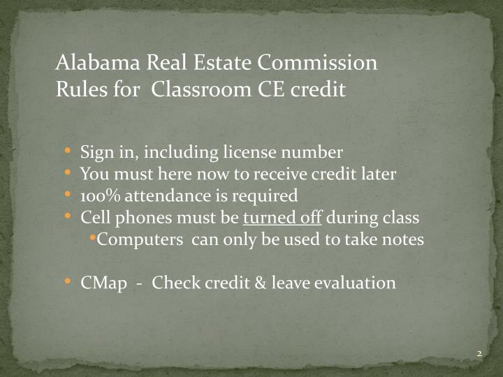 Alabama Real Estate Commission