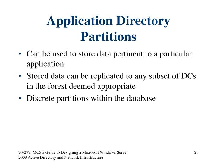 Application Directory Partitions