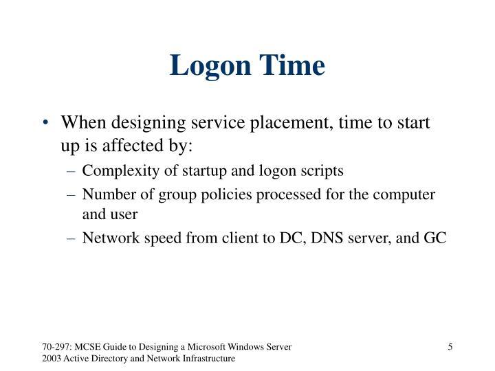 Logon Time