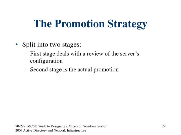 The Promotion Strategy