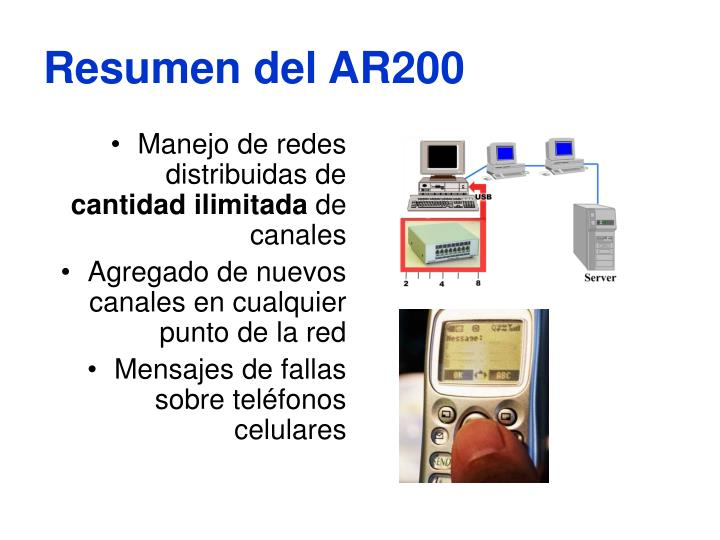 Resumen del AR200