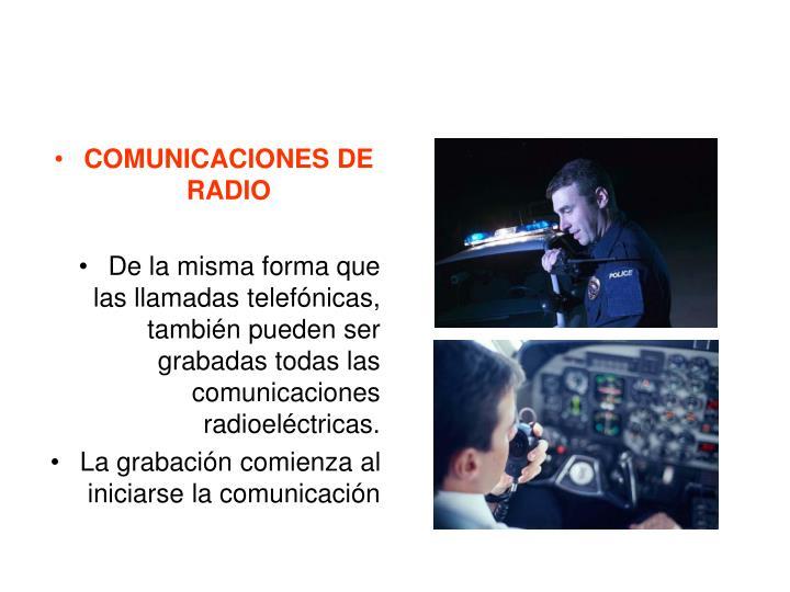COMUNICACIONES DE RADIO