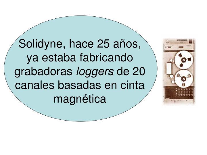 Solidyne, hace 25 años, ya estaba fabricando grabadoras