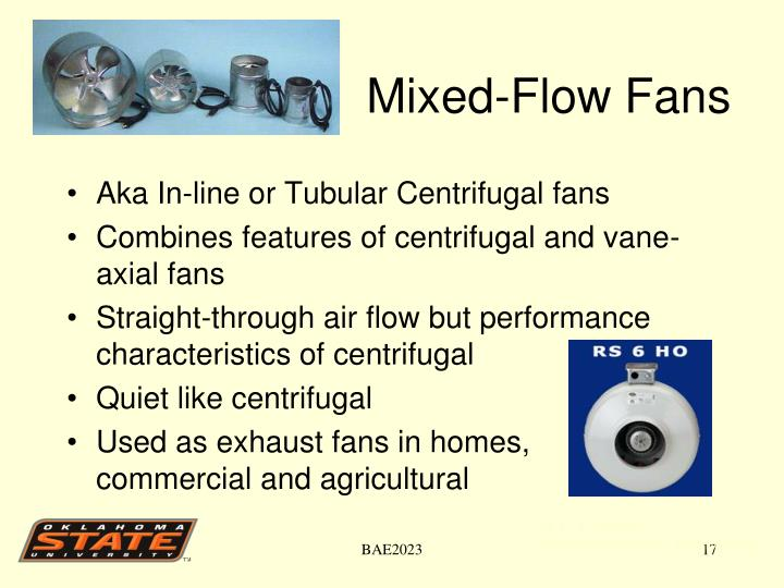 Mixed-Flow Fans