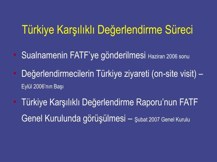 Türkiye Karşılıklı Değerlendirme Süreci