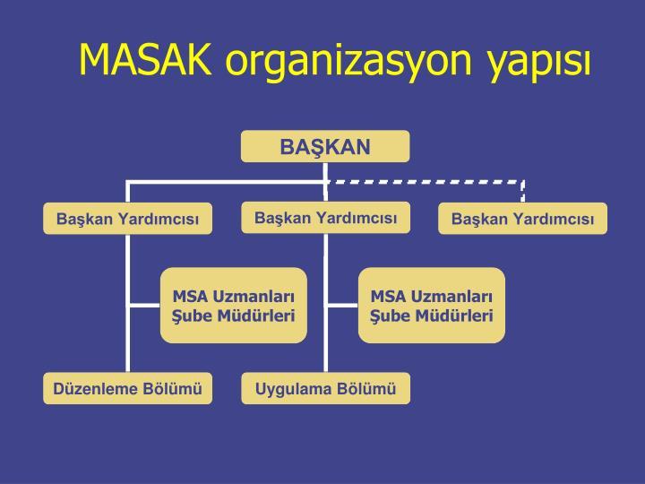 MASAK organizasyon yapısı