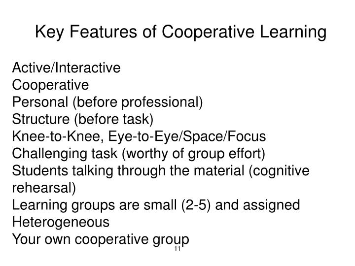 Key Features of Cooperative Learning
