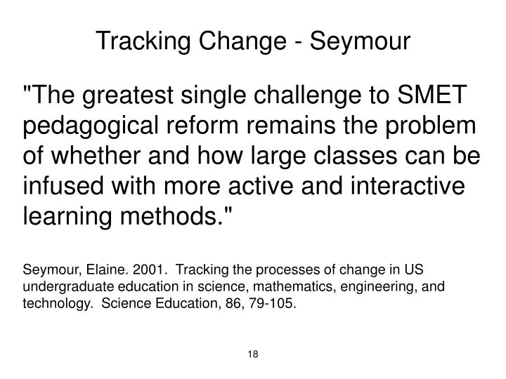 Tracking Change - Seymour
