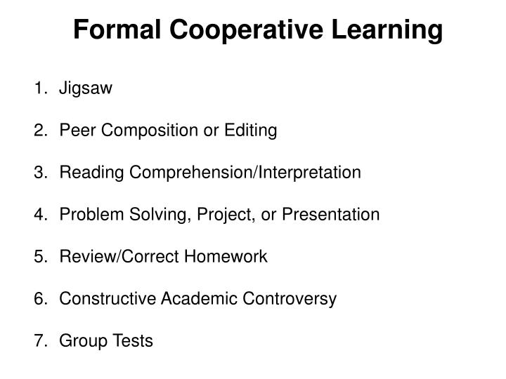 Formal Cooperative Learning