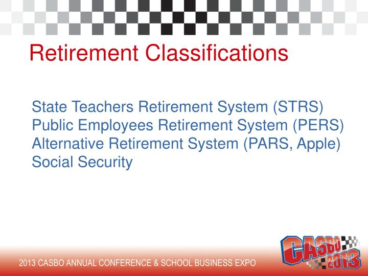 Retirement Classifications