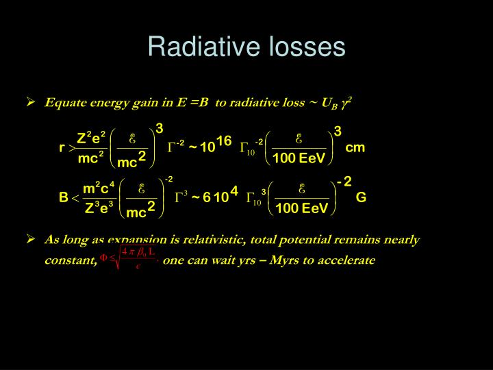 Radiative losses