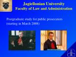 jagiellonian university faculty of law and administration