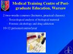 medical training centre of post graduate education warsaw