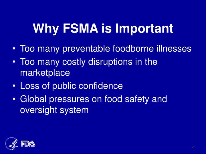 Why FSMA is Important
