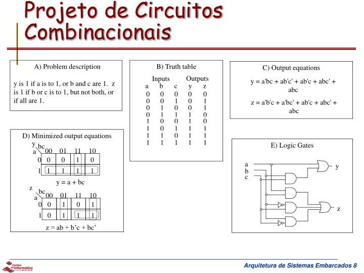 Projeto de Circuitos Combinacionais