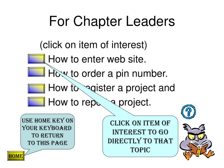 For Chapter Leaders