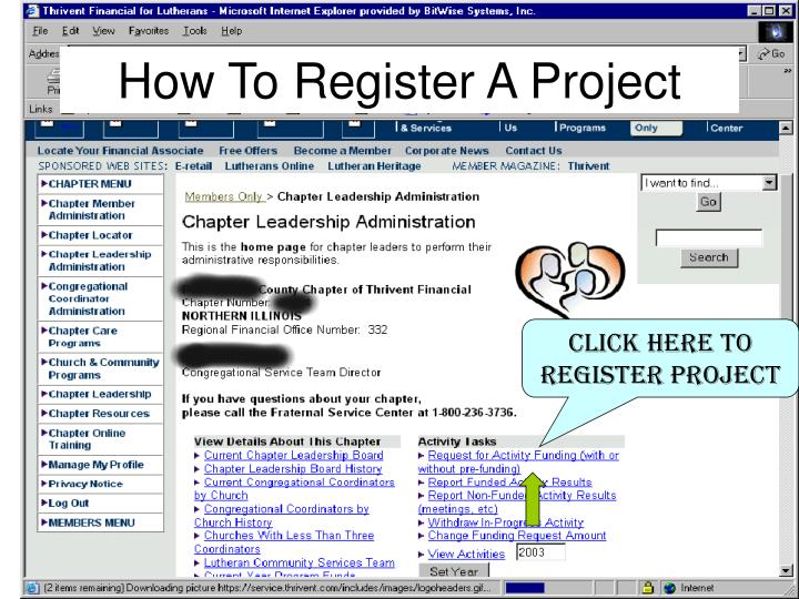 How To Register A Project