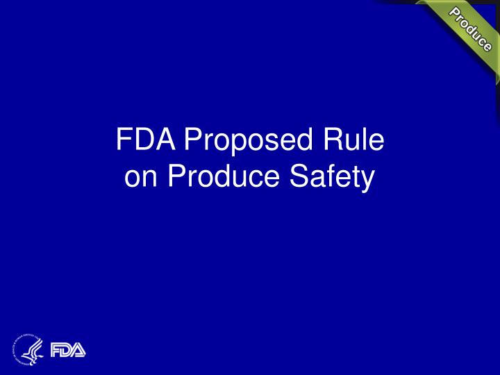 FDA Proposed Rule