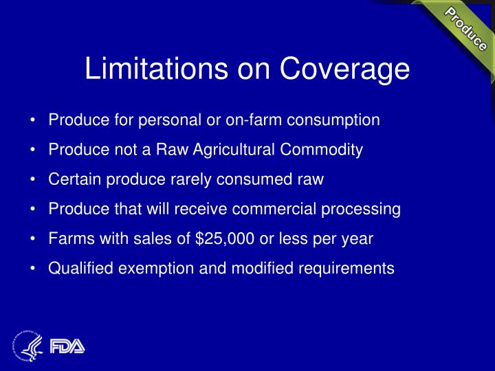 Limitations on Coverage