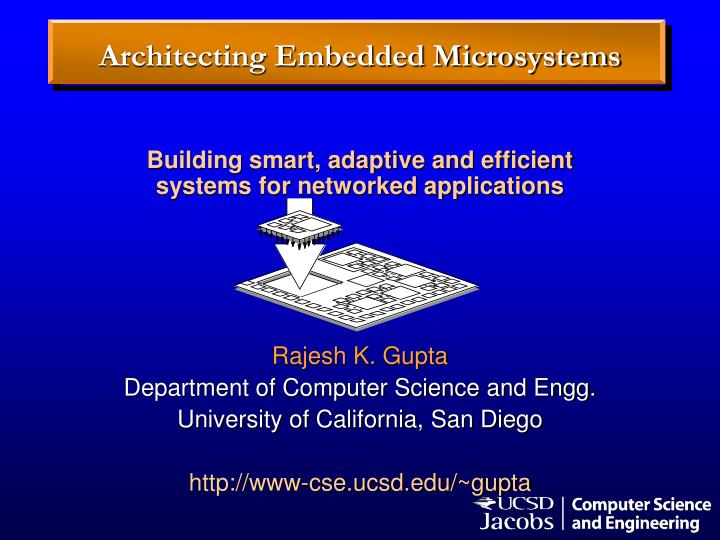 Architecting embedded microsystems