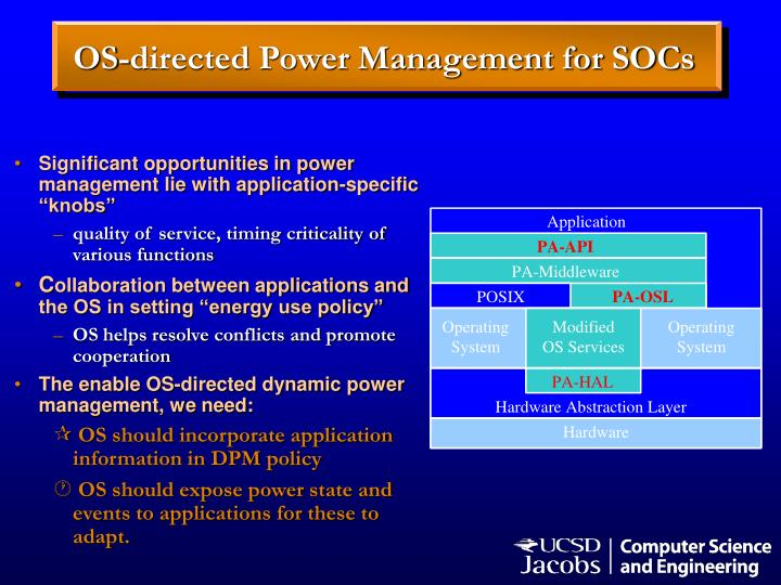 OS-directed Power Management for SOCs
