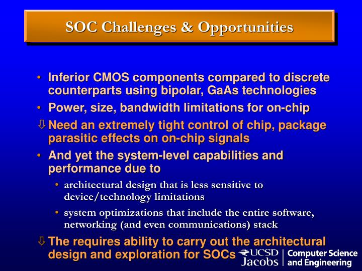SOC Challenges & Opportunities