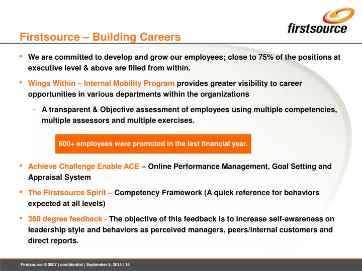 Firstsource – Building Careers