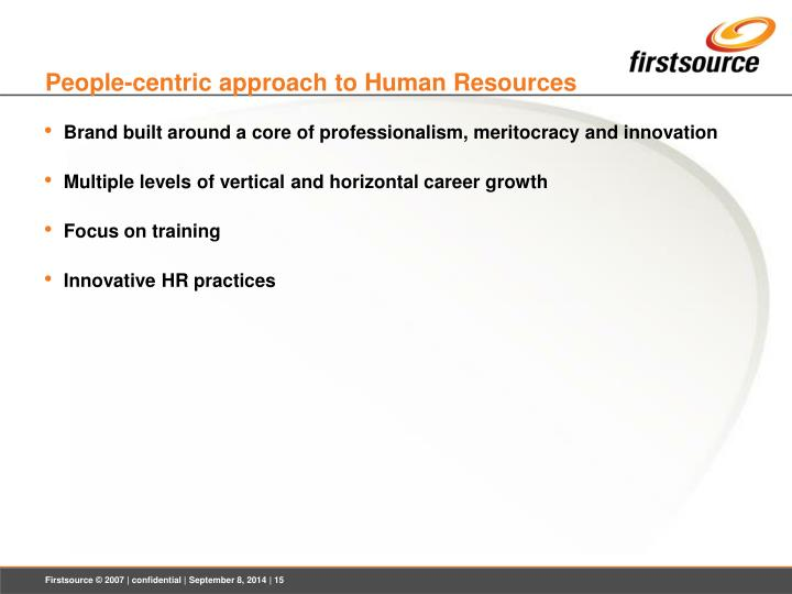 People-centric approach to Human Resources