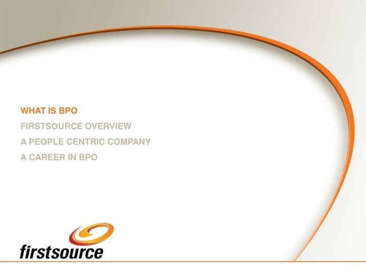 WHAT IS BPO