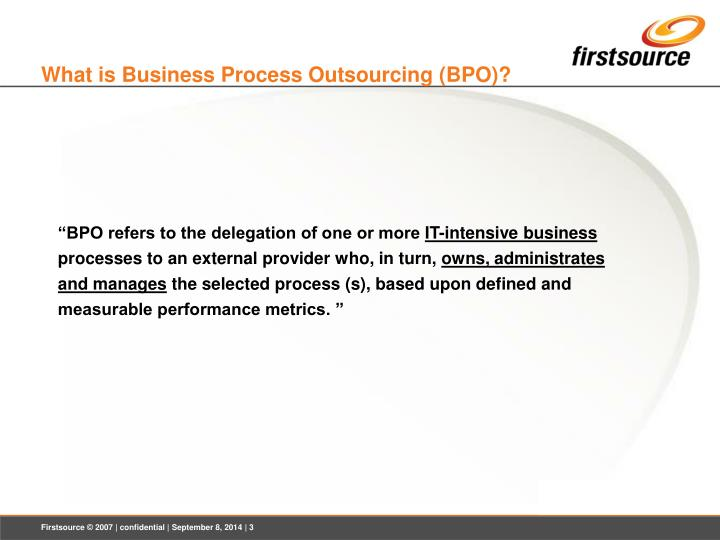 What is business process outsourcing bpo