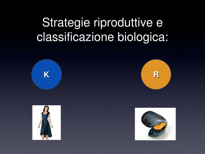 Strategie riproduttive e classificazione biologica: