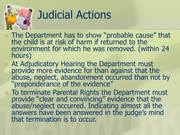 Judicial Actions