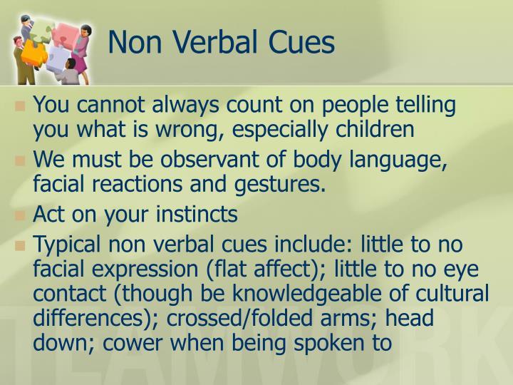 Non Verbal Cues