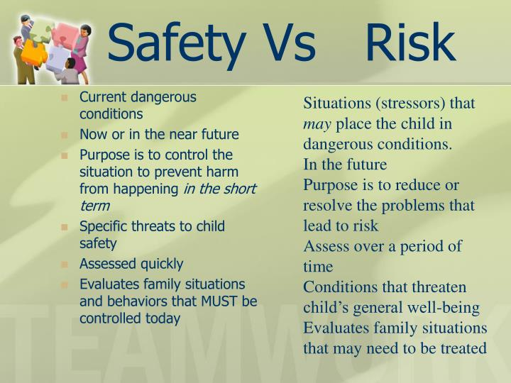 Safety Vs   Risk