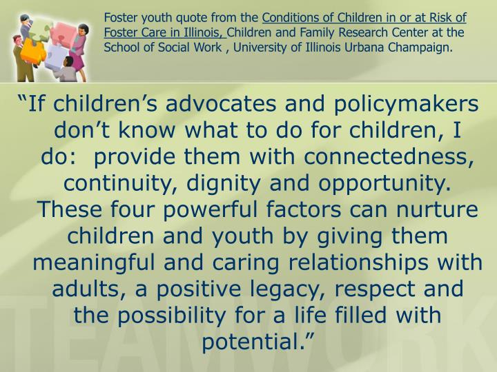 Foster youth quote from the