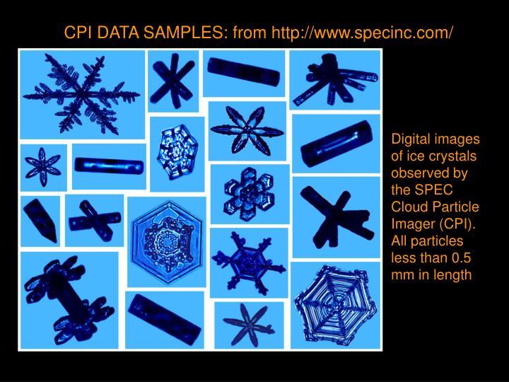 CPI DATA SAMPLES: from http://www.specinc.com/