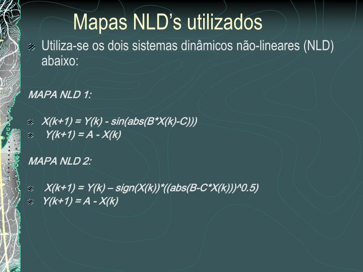 Mapas NLD's utilizados