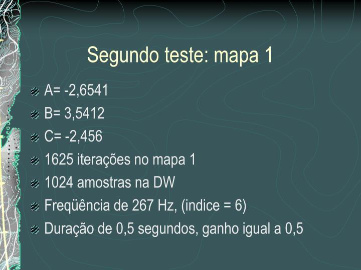 Segundo teste: mapa 1