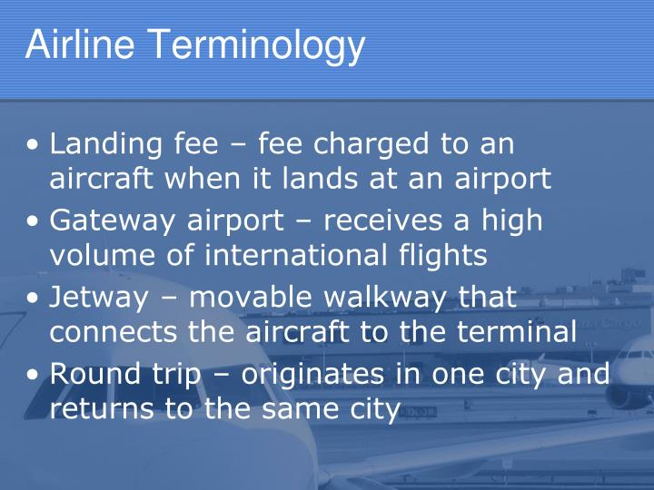 Airline Terminology