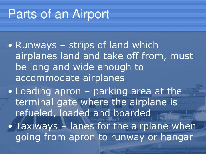 Parts of an Airport