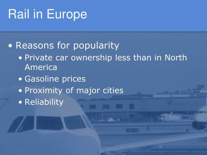 Rail in Europe