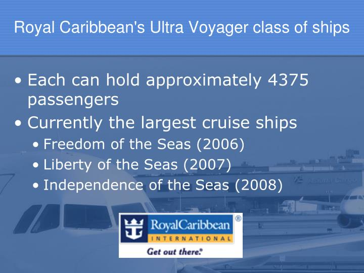 Royal Caribbean's Ultra Voyager class of ships