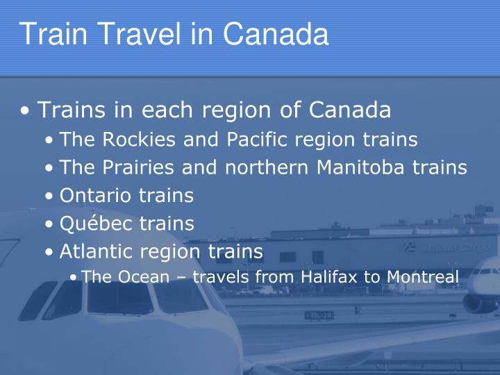 Train Travel in Canada