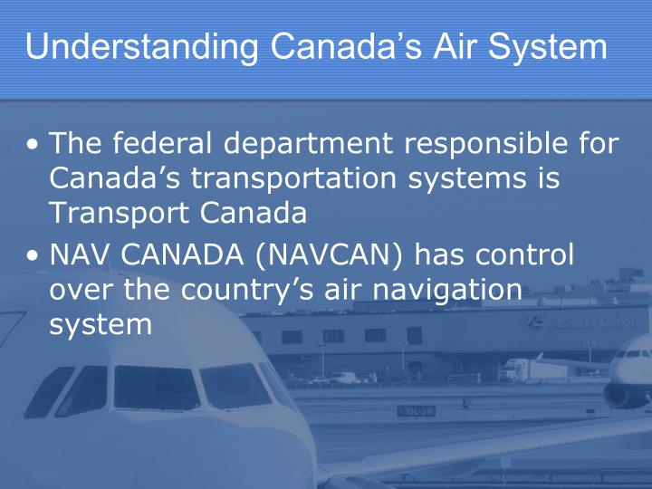Understanding Canada's Air System