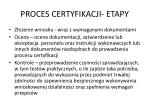 proces certyfikacji etapy