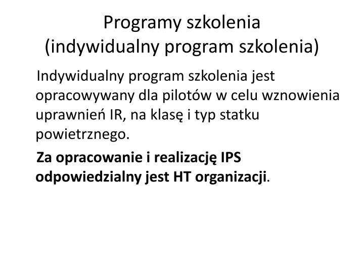 Programy szkolenia