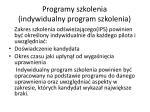 programy szkolenia indywidualny program szkolenia1