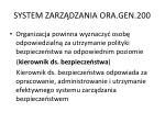 system zarz dzania ora gen 2002